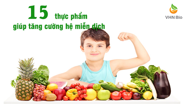 Thực phẩm hỗ trợ tăng cường hệ miễn dịch cho trẻ